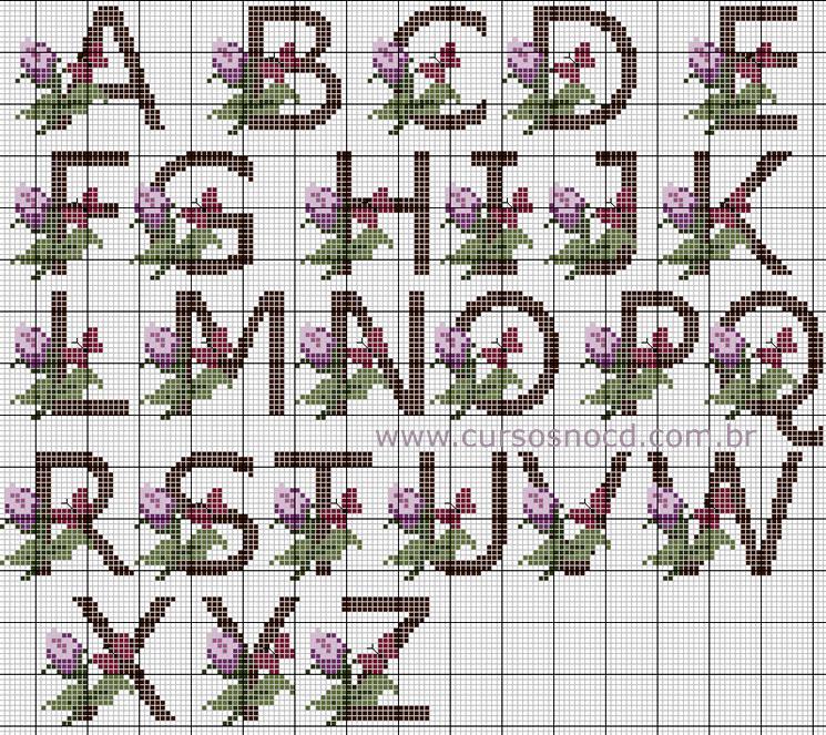 Gráfico completo do A ao Z com a flor e borboleta