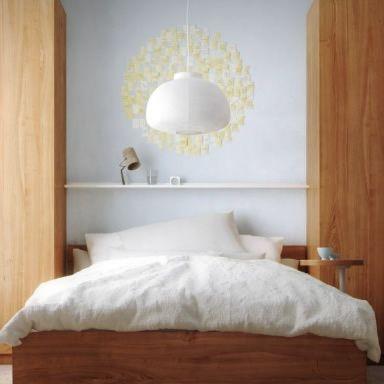 Lustre Branco para o quarto