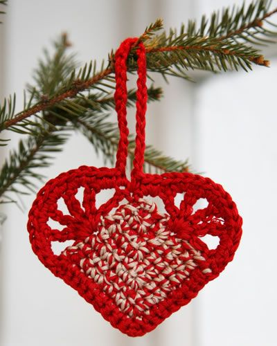 Coração de crochê