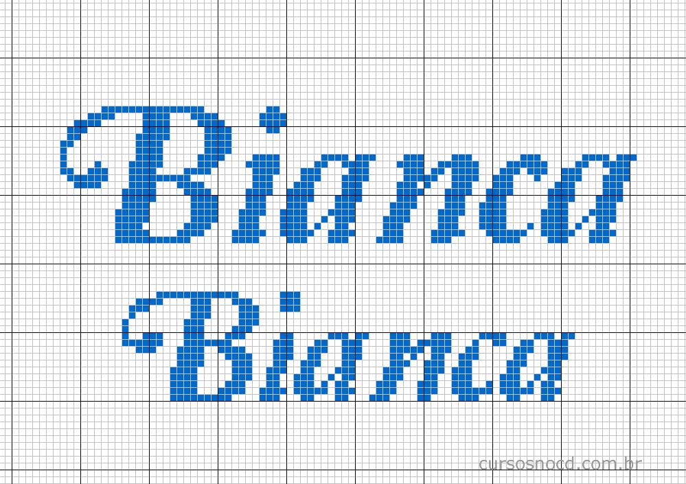 Nome Bianca em ponto cruz