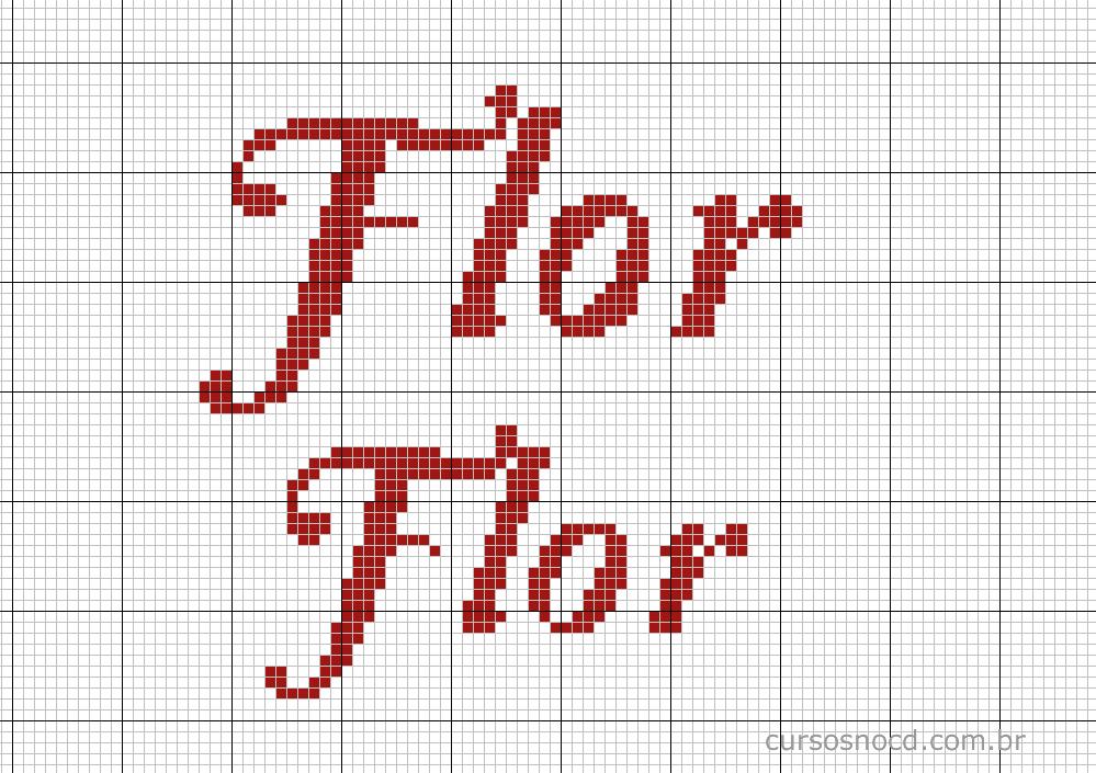 Nome Flor em ponto cruz