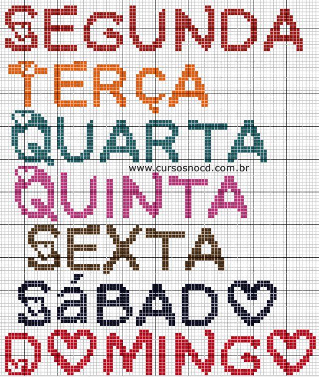 Monograma Semaninha com Coração