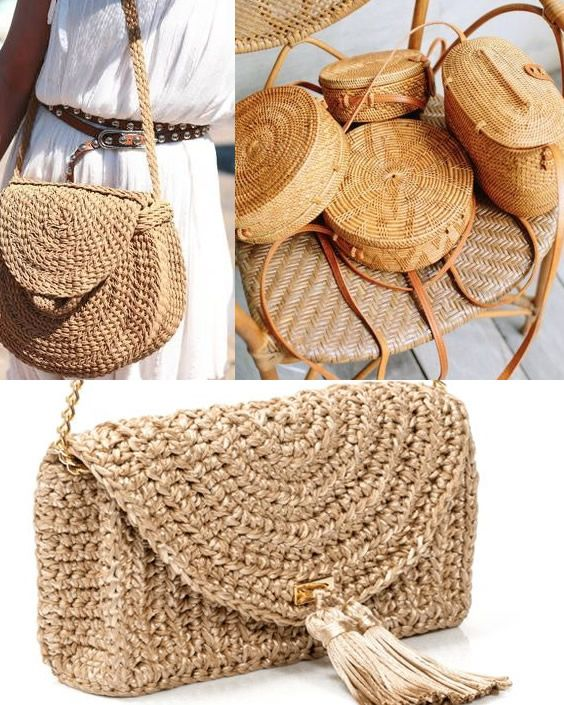 Diferentes formatos de bolsas de palha